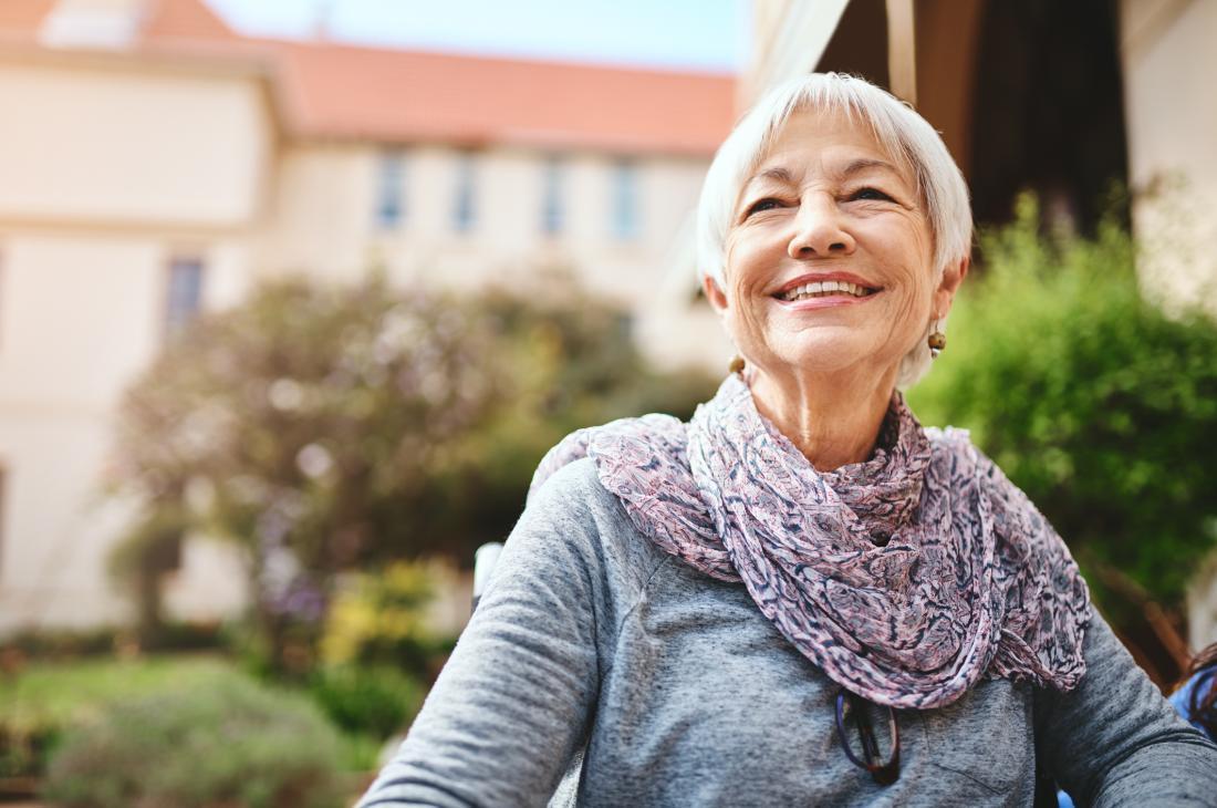 Senior lady looking happy