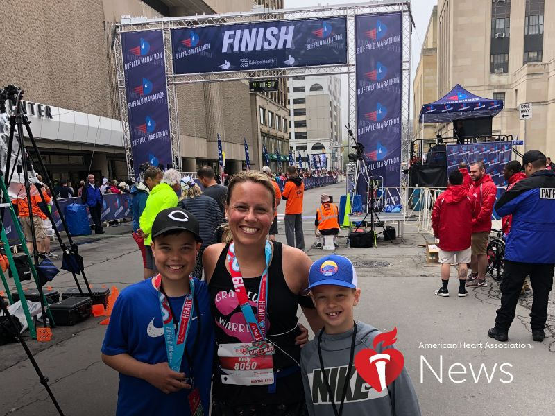 News Picture: AHA News: Athletic Mom's Undiagnosed Condition Led to 2 Strokes
