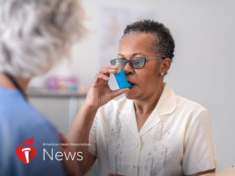 News Picture: AHA News: Persistent Asthma Linked to Increased Risk for Heart Rhythm Disorder