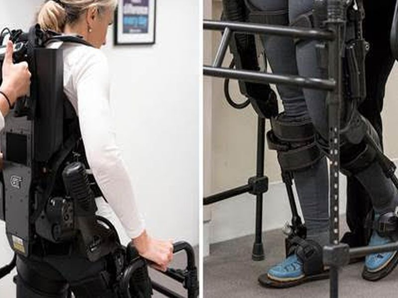 News Picture: High-Tech 'Exoskeleton' Can Give Mobility Back to People With MS