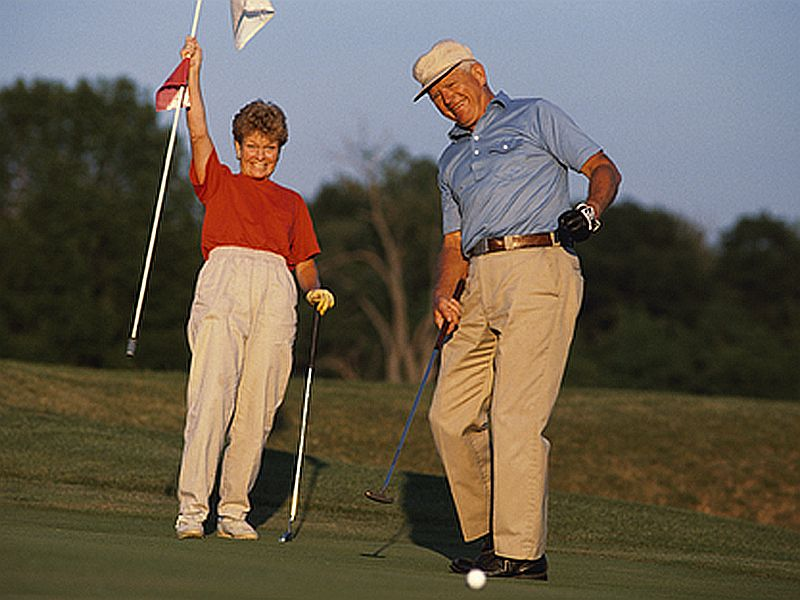 News Picture: Time Spent on the Links May Lengthen Life