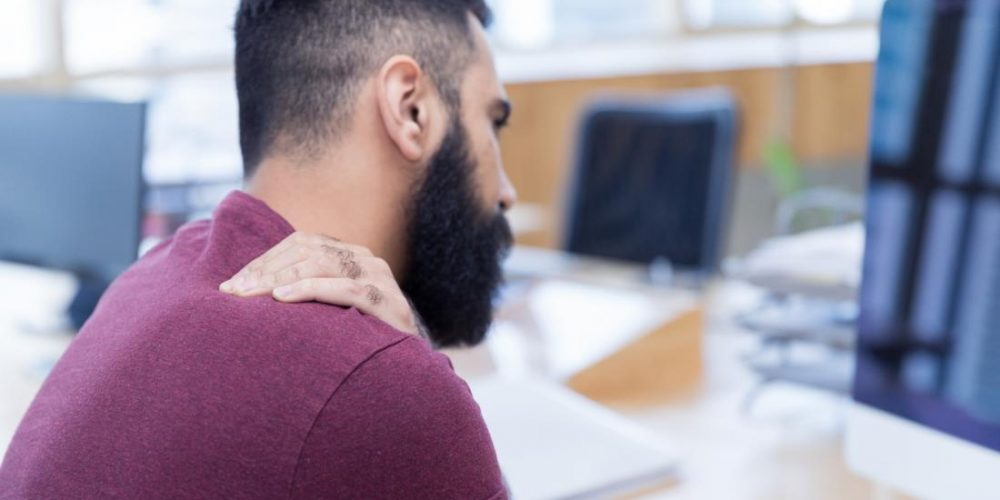 What happens with a pinched nerve in the shoulder?