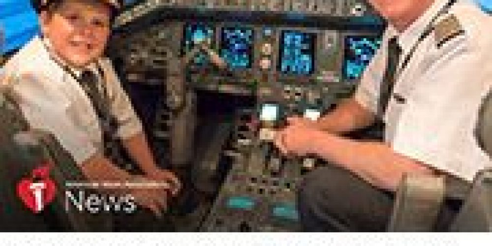 AHA News: With Help, Boy's Dreams of Flight Get to Soar Despite His Heart Issues
