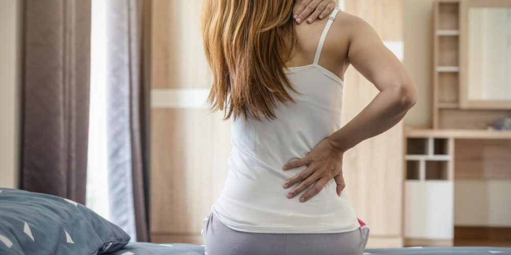 What can cause a tingling sensation on the back?