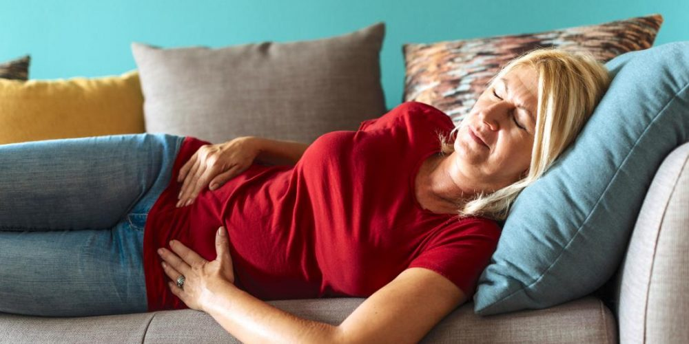 What can cause cramps after menopause?