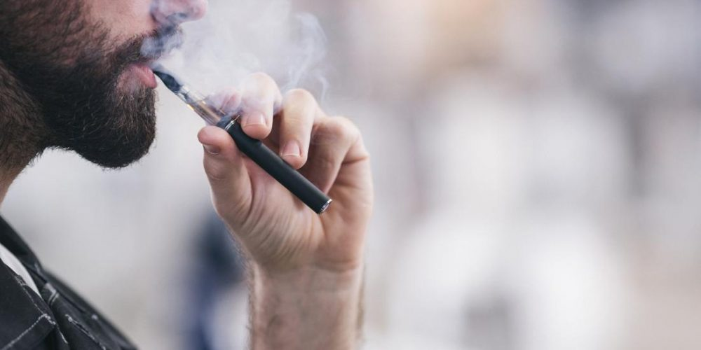 How do nicotine-free e-cigarettes affect blood vessels?