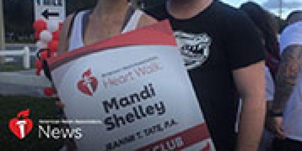 AHA News: Heart Transplant Survivor Gets Wedding Proposal at Finish Line