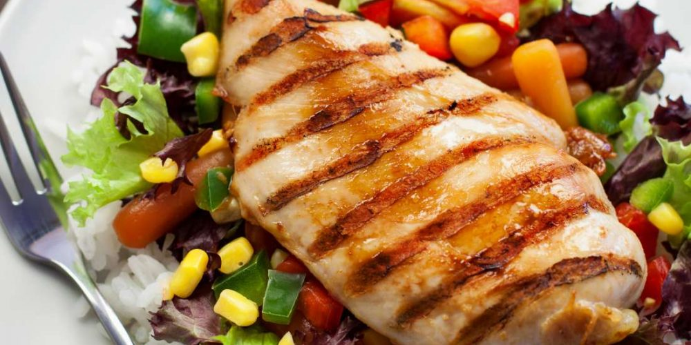 How many calories are there in different cuts of chicken?