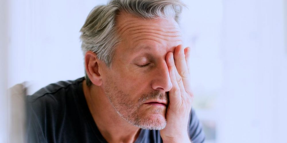 How is stress linked with constipation?