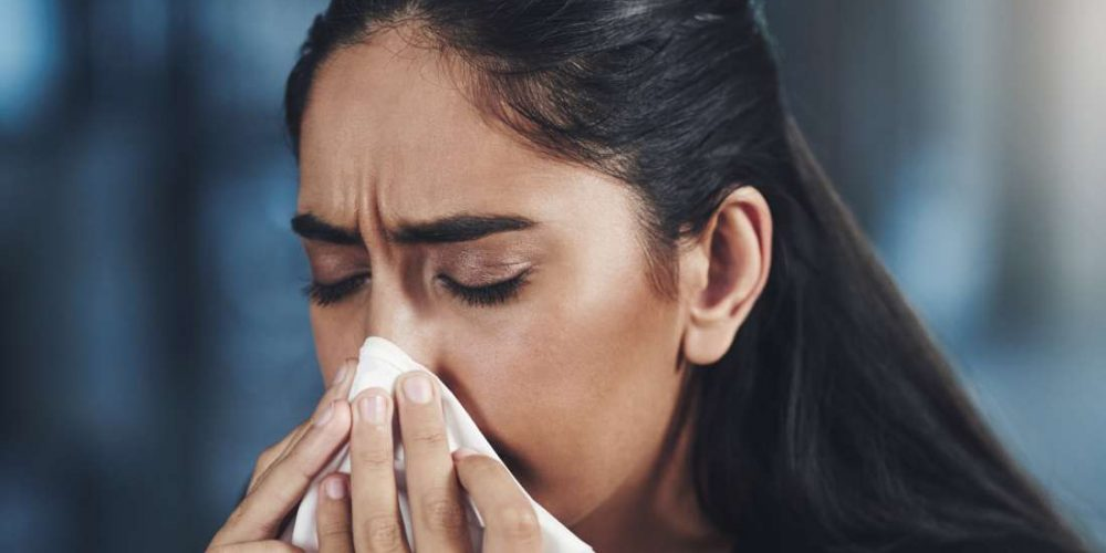 What causes a bad smell in the nose?