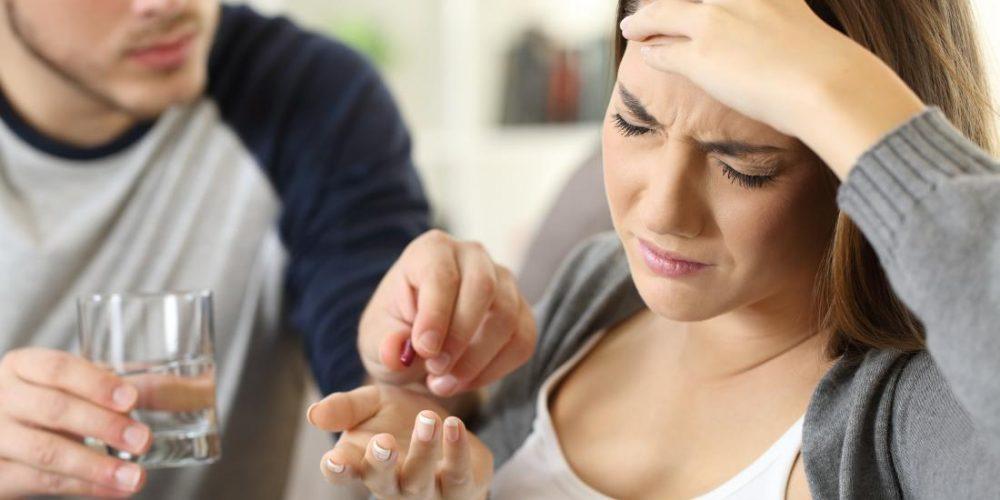 What causes a headache with nausea?