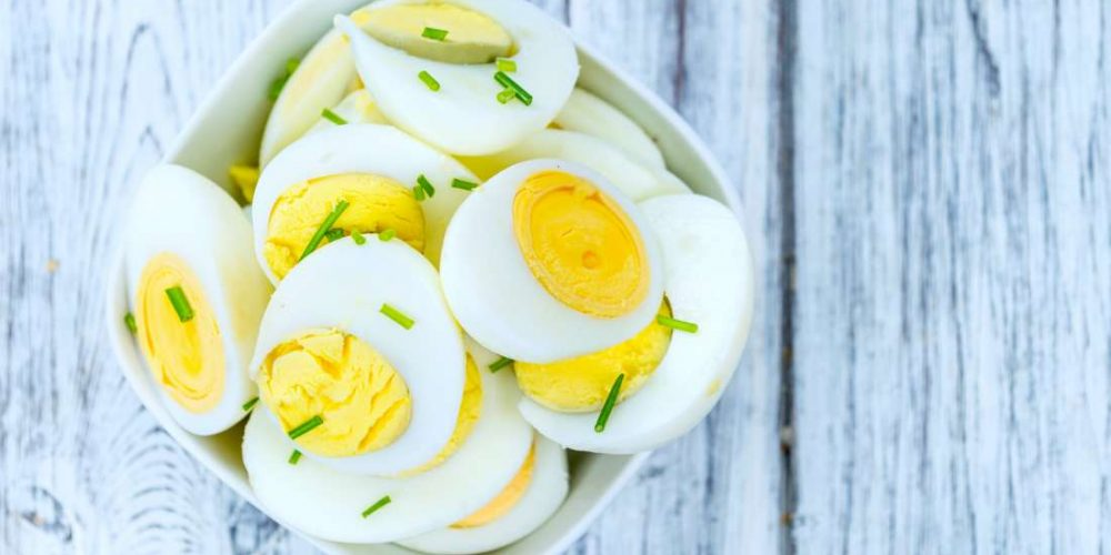 How many calories do eggs contain?
