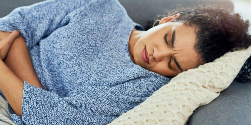 What can cause abdominal pain and constipation?