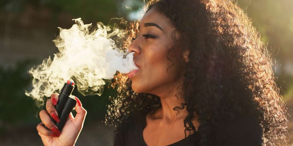 Does vaping without nicotine have any side effects?