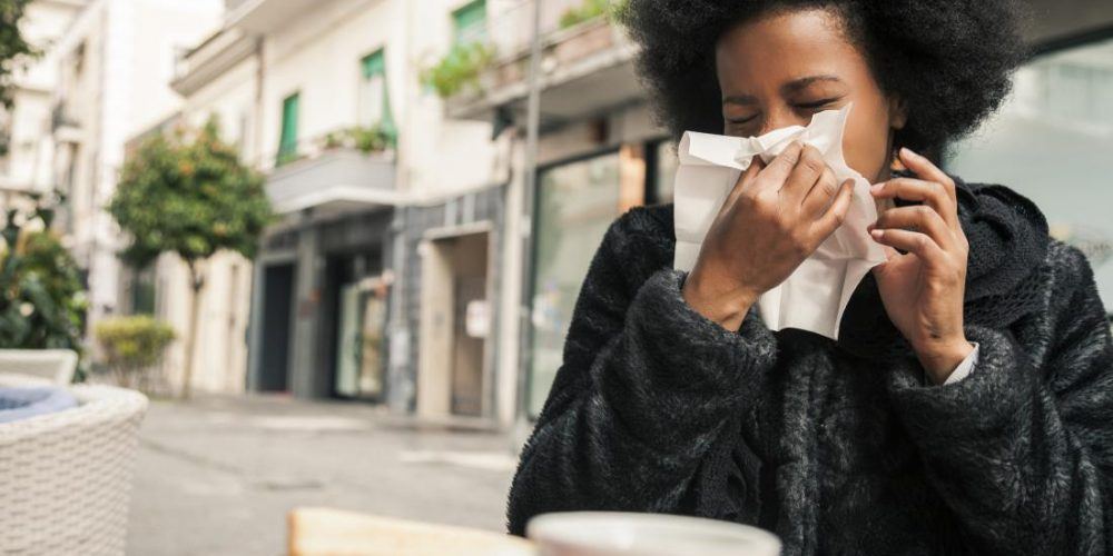 What causes black mucus?
